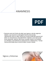 Anamnesis, Infarto de miocardio