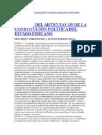 Análisis Del Artículo 139 de La Constitución Política Del Estado Peruano