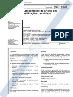 NBR 06022 - 1994 - Apresentação de Artigos em Publicações Periódicas.pdf
