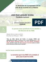 Realidades sobre la afectación de la propiedad rural en Colombia a partir de los acuerdos de La Habana