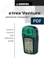 Etrex Venture Owners Manual