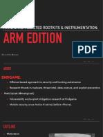 RECON 0xA Hardware Assisted Rootkits ARM Spisak