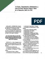 Ley de Secretarías de Estado de 1934, Abelardo Rodriguez