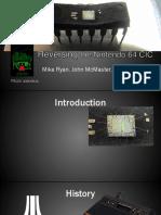 Recon2015 19 Mike Ryan John Mcmaster Marshallh Reversing the Nintendo 64 CIC