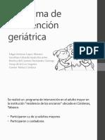 Programa de Intervención Geriátrica