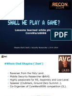 Elad Shapira - Shall We Play a Game - Lessons Learned While Playing CoreWars8086