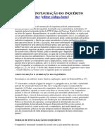 FORMAS DE INSTAURAÇÃO DO INQUÉRITO POLICIAL.docx