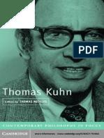 Barry Barnes Thomas Kuhn y El Problema Del Orden Social en La Ciencia