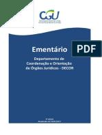 Ementario Departamento de Coordenacao e Orientacao - Decor - 3 Edicao