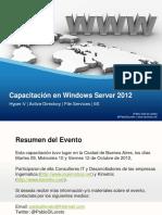 Capacitacion en Windows Server 2012 2012 10