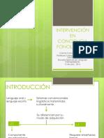 Intervención en Conciencia Fonológica