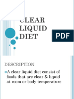 Clear Liquid Diet