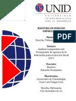Final Ensayo Análisis  PEF 2017