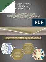 Norma Oficial Mexicana de Diabetes