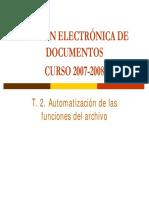 Automatizacion de Las Funciones de Archivo