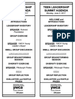 teen leadership summit agenda handout