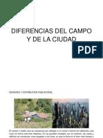 Diferencias Del Campo y de La Ciudad