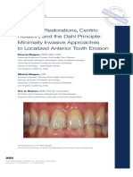 Adhesive Restorations, Centric Relation and the Dahl Principle