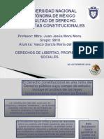 Derechos de Libertad, Propiedad y Sociales.