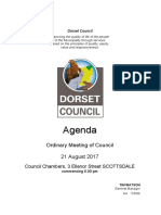 Dorset Council agenda August 21