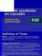 Seizure Disorders in Children 2014 Fcm Lecture