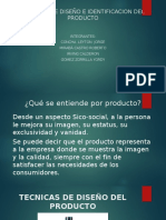 Tecnicas de Diseño e Identificacion Del Producto