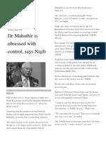 6. Mahatir Drunk With Powers