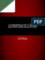 Gérard Wajcman - Las Fronteras de Lo Íntimo