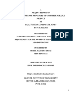 A Project Report on Loan Procedure of Consumer Durable Product at Bajaj Finserv Lending