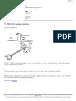 21231-3 Core Plug, Replace