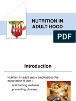 Nutrition in Adult Hood