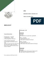 2012 Girraween HSC Biology Trial Exam