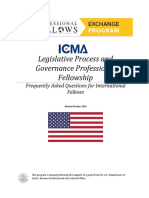 FAQ Legislative Professional Fellows Program 2017