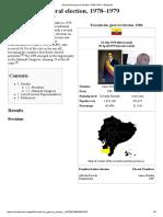 Ecuadorian General Election, 1978–1979