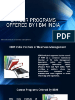 Career Programs Offered by IIBM India