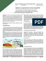 Smart tolling for highway transportation system using RFID