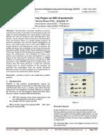 Survey Paper on Bill of materials
