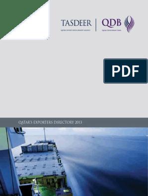 Tasdeer Exporters Directory 2013-English pdf   Qatar   Plastic