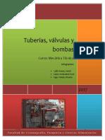 Tuberías, Válvulas y Bombas