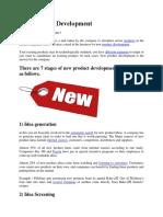New Product Development Analysisisss