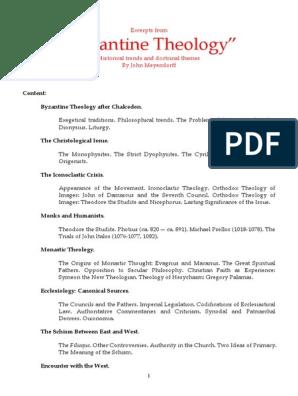 byzantine_theology pdf | Christology | Eastern Orthodox Church