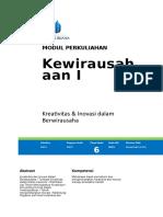Modul Kewirausahaan I [TM6]
