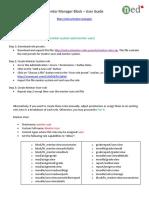 NED Mentor Manager Installation Manual