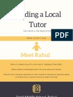 Local Tutor vs Online Tutor - Rahul's Story