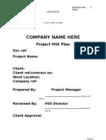 Project Hse Plan Rev2 - Scribd