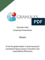 Granuels India Corporate