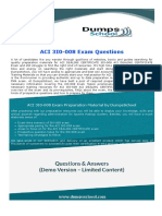 ACI DEALING CERTIFICATE 3I0-008 Exam Dumps