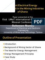 Efficient Electrical Energy Management in the Mining Industries 1