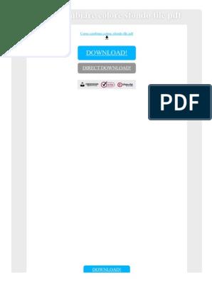 Cambiare sfondo a documento pdf