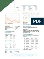 Market Update 16th August 2017